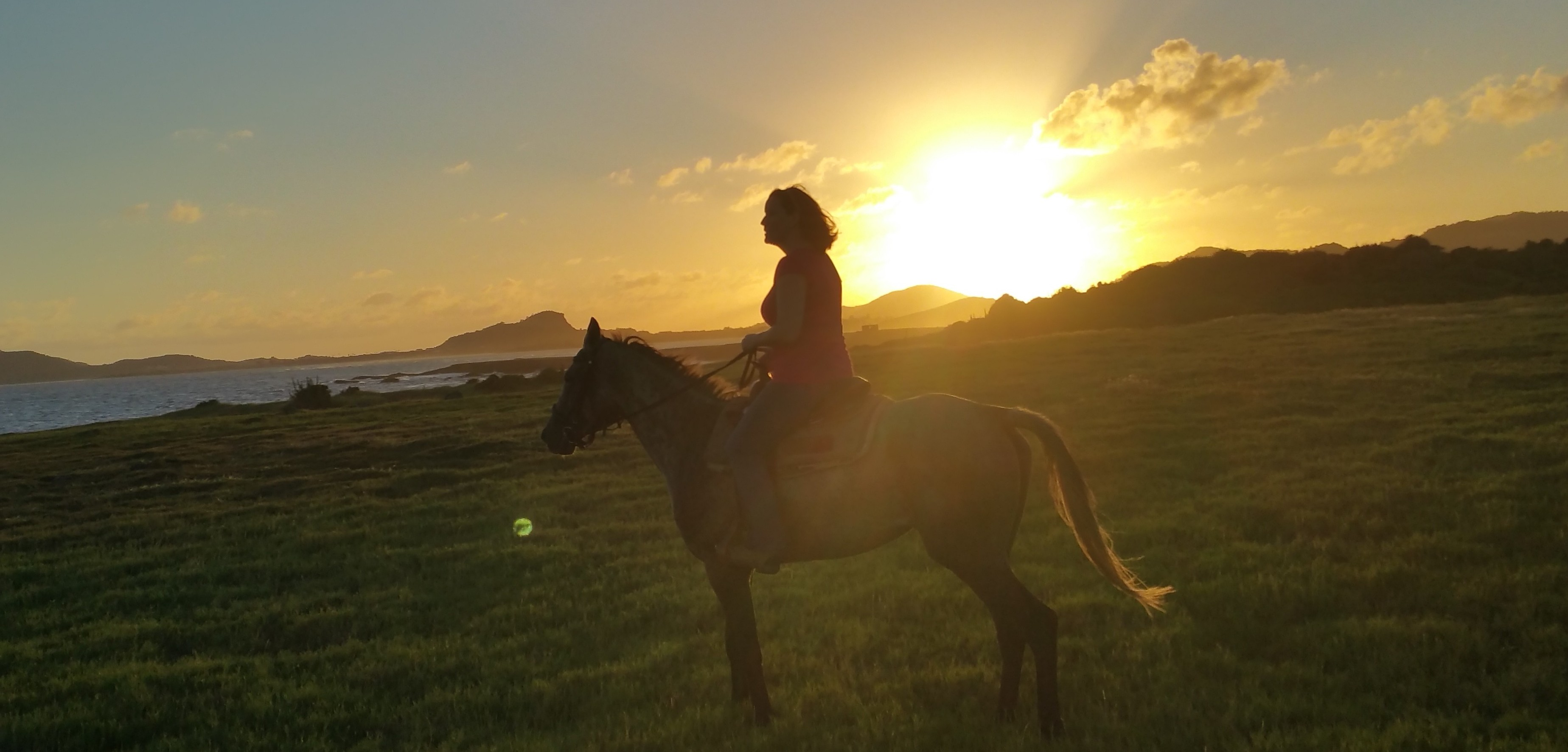 Sunset Horse ride in St. Lucia
